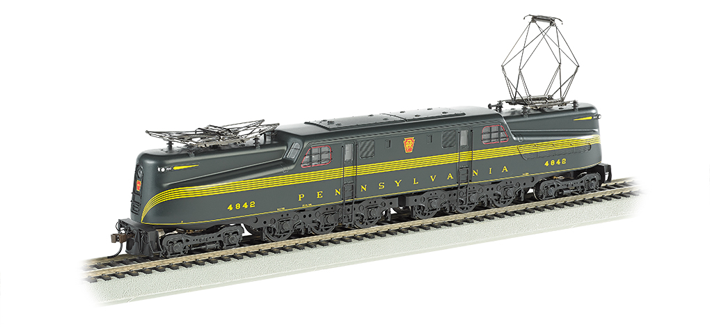 PRR Brunswick Green 5 Stripe #4842-DCC Ready (HO GG1)