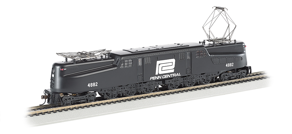Penn Central Black w/ White Lettering #4882-DCC Ready(HO GG1)