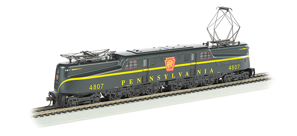 PRR Brunswick Green Single Stripe #4807-DCC Sound Value (HO GG1)
