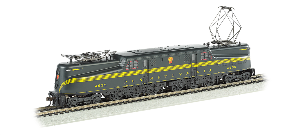 PRR Brunswick Green 5 Stripe #4935-DCC Sound Value (HO GG1)