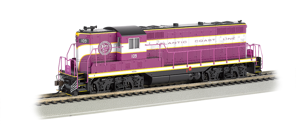 Atlantic Coast Line #109 (Purple/Silver)-GP7-DCC Sound Value(HO)