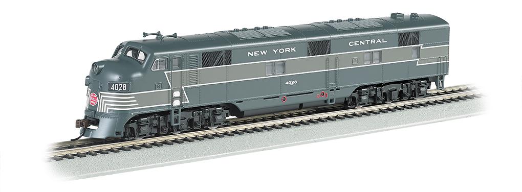 Bachmann 66604 HO EMD E7 w/Sound & DCC New York Central Lightning Stripe 2-Tone