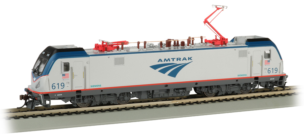Amtrak #619 - Siemens ACS-64 - DCC Sound