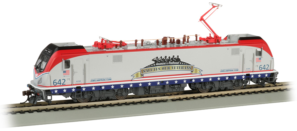 Bachmann 67403 HO Siemens ACS-64 Electric DCC and Sound Amtrak #642 Veterans Salute Scheme