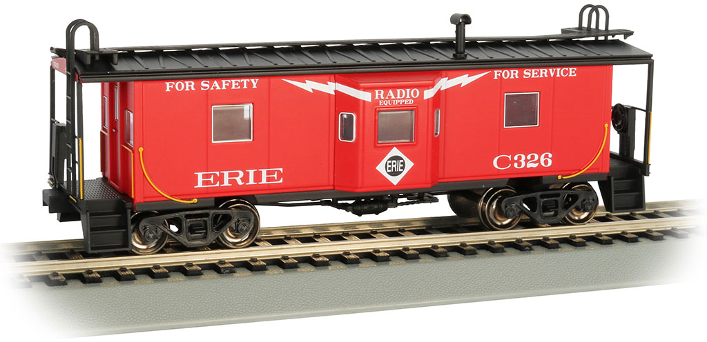 Erie - Bay Window w/ Roof Walk Caboose (HO Scale)