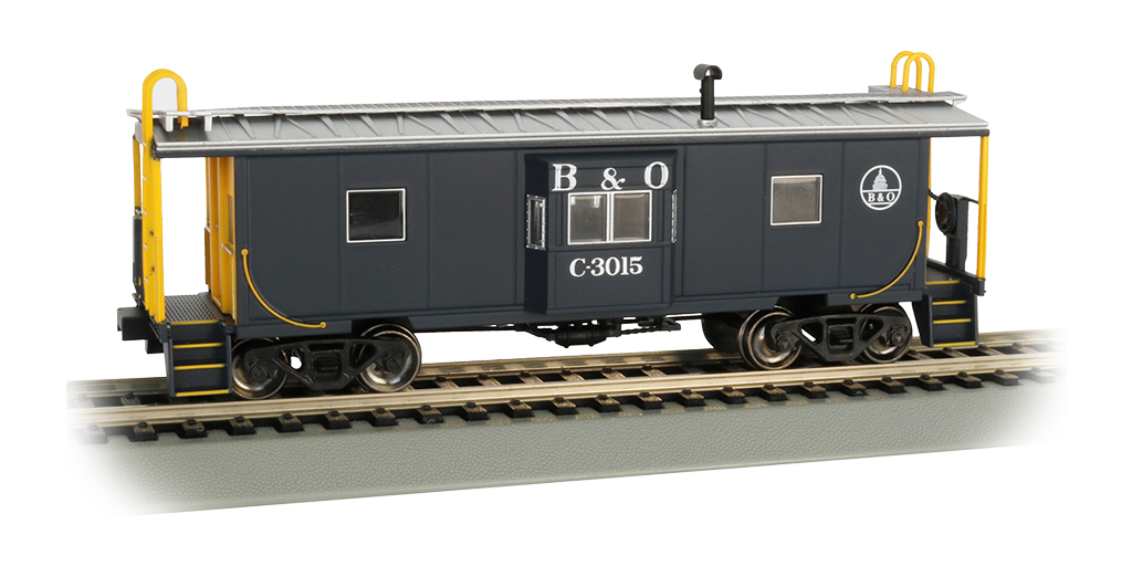 B&O® - Bay Window w/ Roof Walk Caboose (HO Scale)