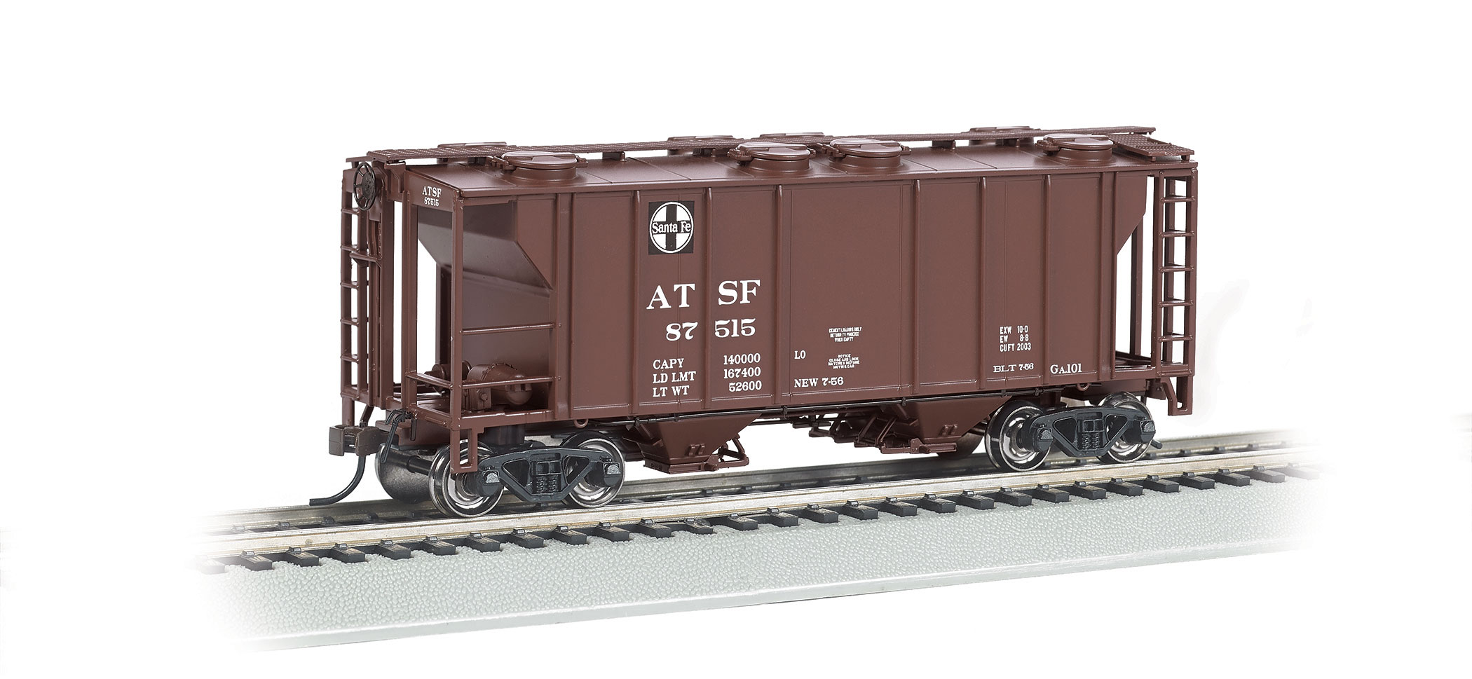 BAC73501 Bachmann Industries HO PS2 Cov Hop Santa Fe 160-73501
