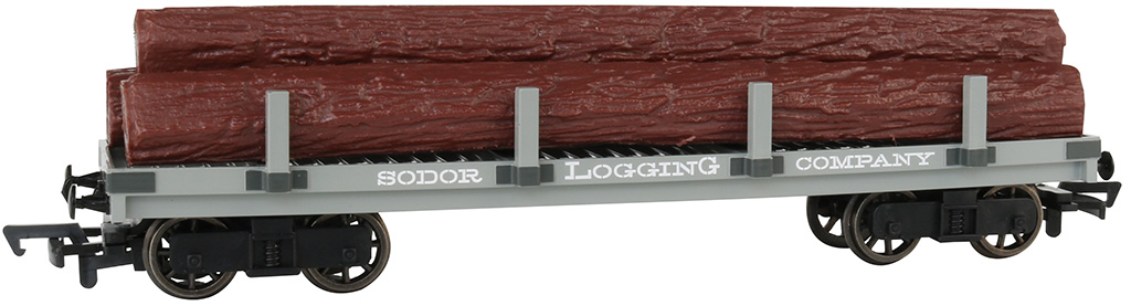 Sodor Logging Company Flat Wagon with Logs (HO Scale)