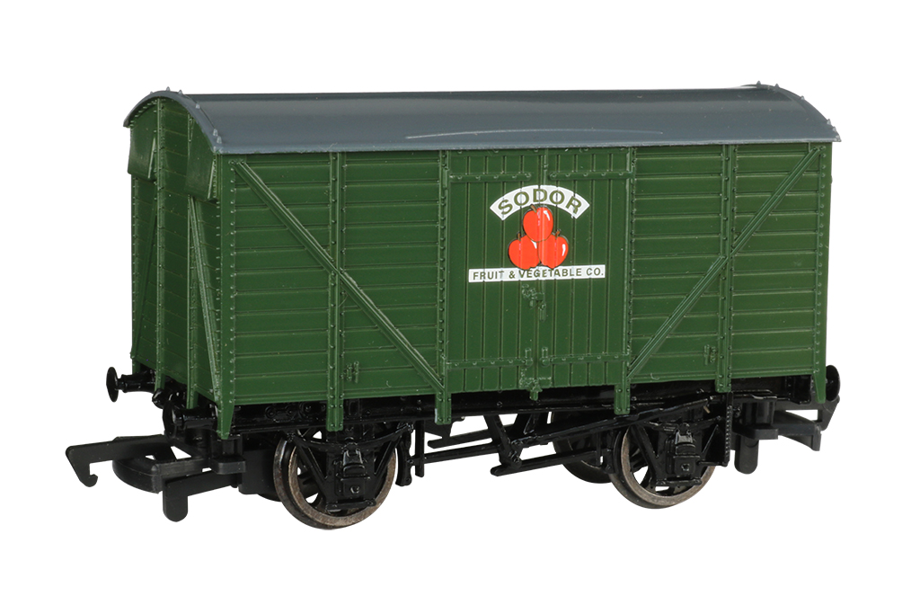 Bachmann 77012 HO Ventilated Van Thomas & Friends Sodor Fruit & Vegetable Co. Green