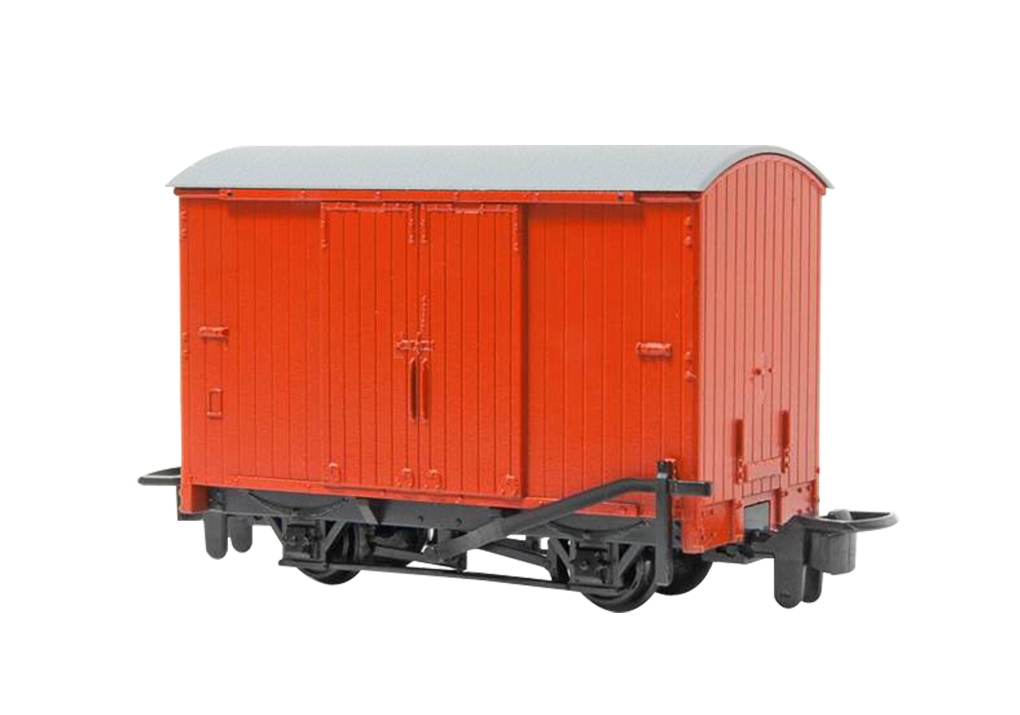 Narrow Gauge Box Van - Red (HOn30 Scale)
