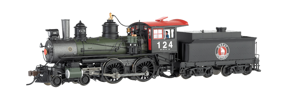 Great Northern #124 - Baldwin Modern 4-4-0, DCC Sound (HO Scale)