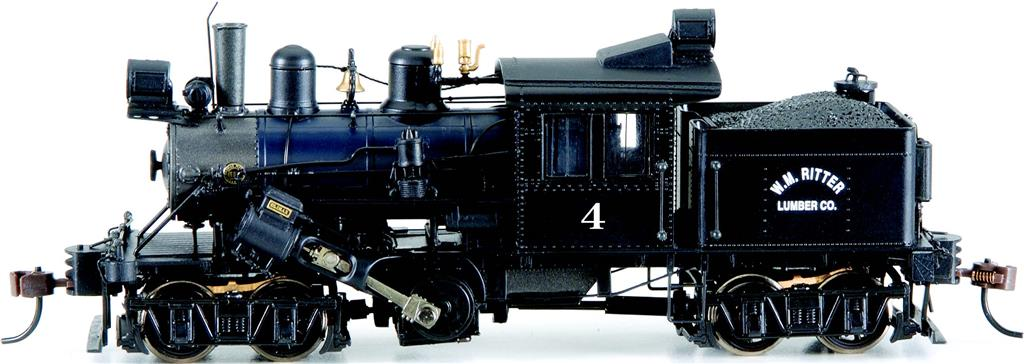 W.M. Ritter #4 - 50-ton Two-Truck Climax (HO Scale)