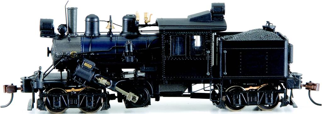 Painted, Unlettered - Black - 50-ton Two-Truck Climax (HO Scale)