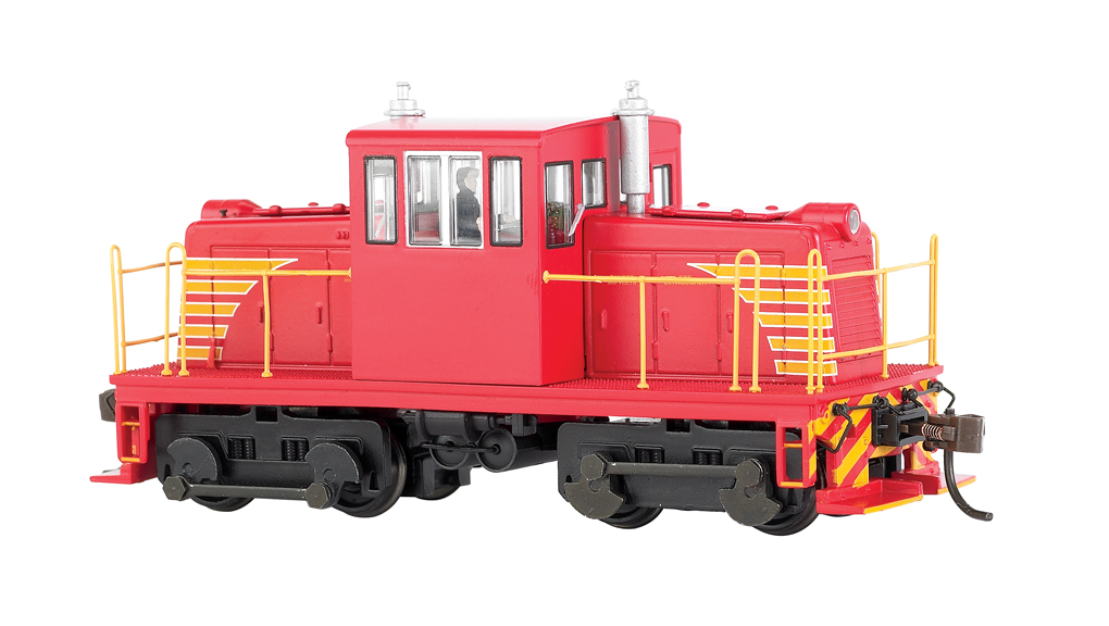 Painted, Unlettered - Red - GE 45 Ton Switcher - DCC (HO Scale)