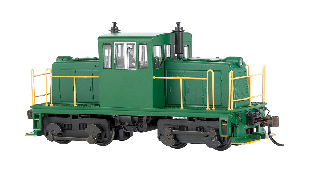Painted, Unlettered - Green - GE 45 Ton Switcher-DCC (HO Scale)