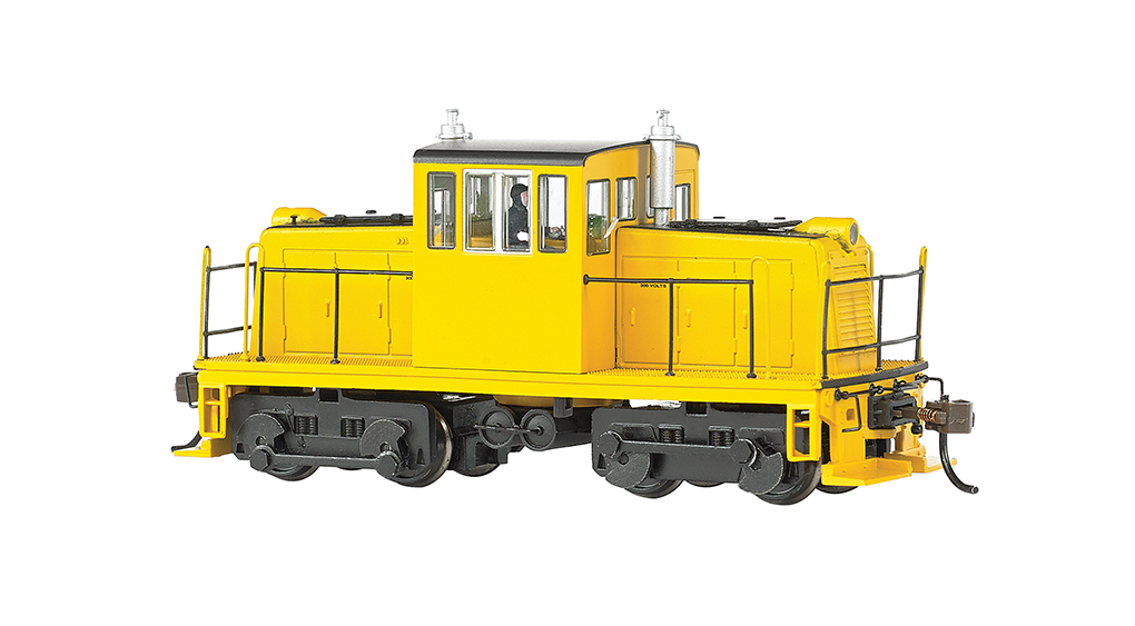 Painted, Unlettered - Black & Yellow-GE 45 Ton Switcher-DCC (HO)