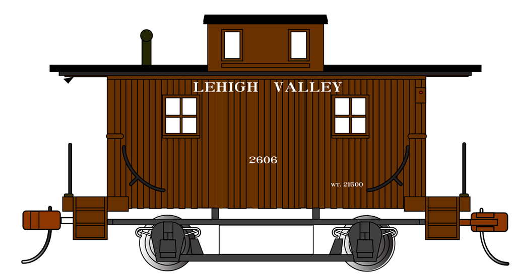 Lehigh Valley - Bobber Caboose (HO Scale)