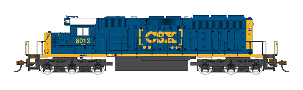 CSX #8013 (HTM Scheme)- SD40-2 - DCC Sound Value (HO Scale)