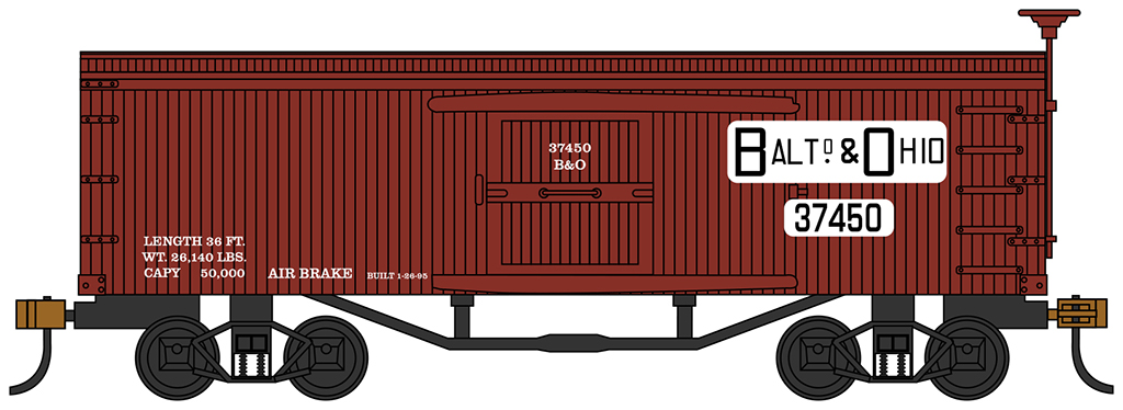 Baltimore & Ohio ® Fruit Car - Old-time Box Car