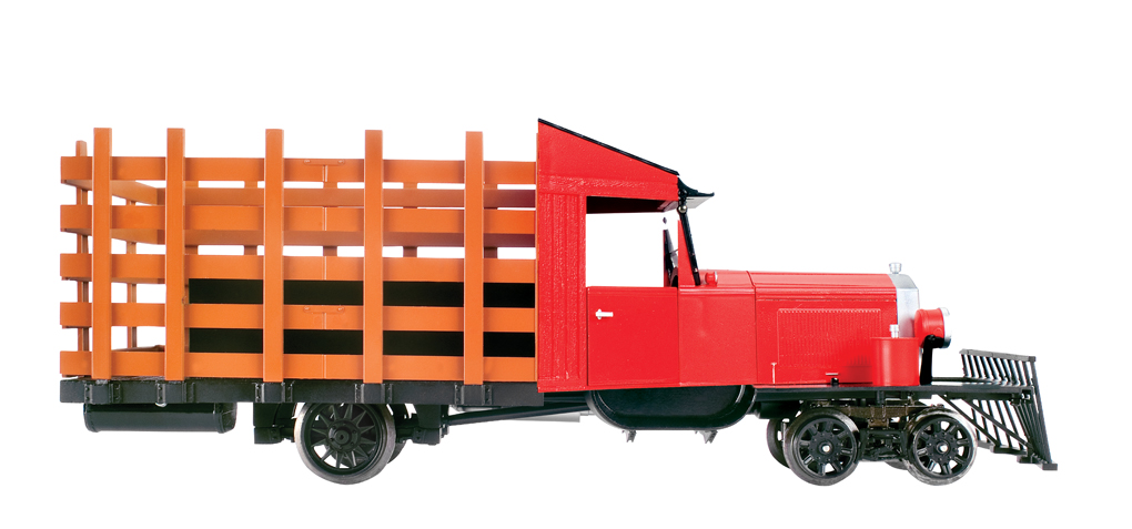 Painted, Unlettered - Red & Black - Rail Truck