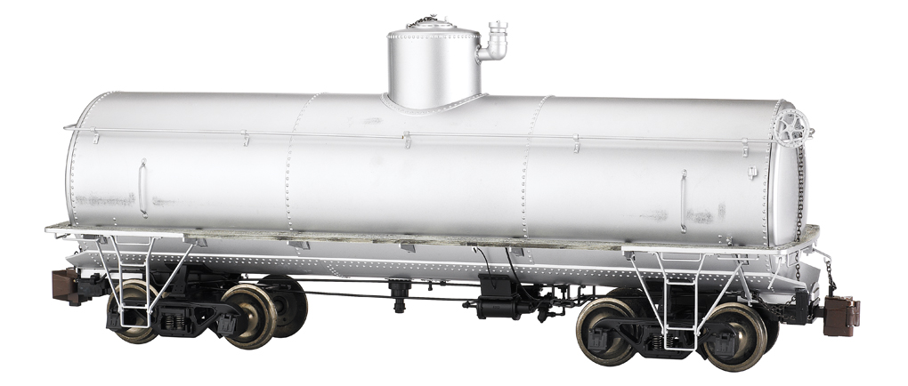 Painted, Unlettered - Silver - Frameless Tank Car (Large Scale)