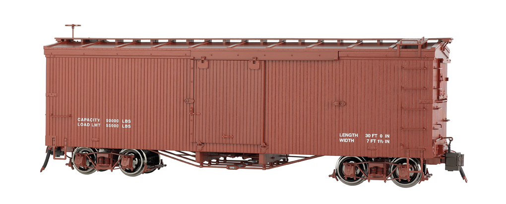 Painted, Data Only - Oxide Red - Murphy Roof Box Car (Large)
