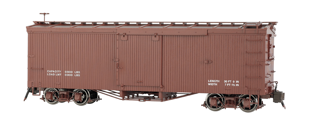 Painted, Data Only - Oxide Brown - Murphy Roof Box Car (Large)