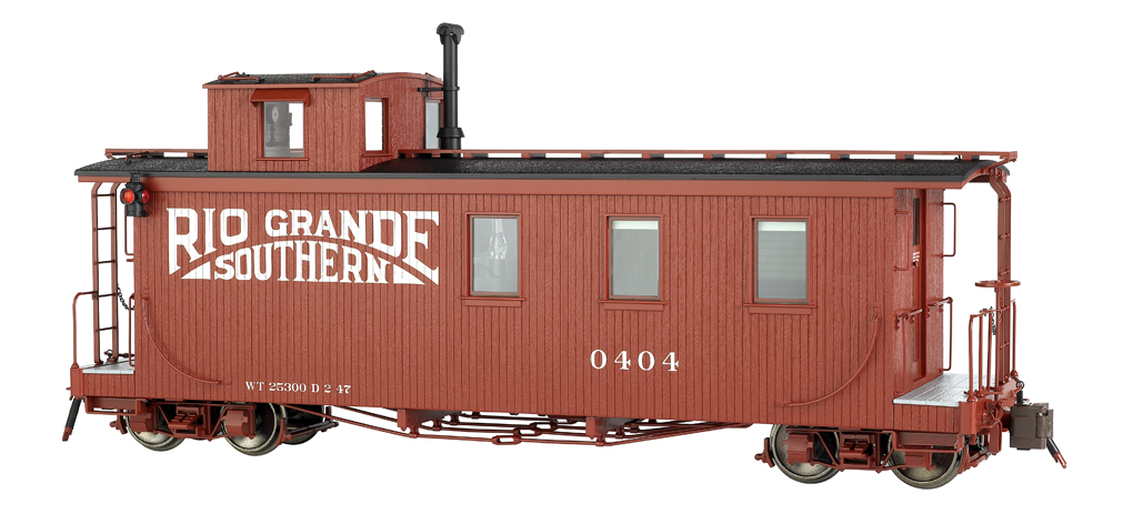 Rio Grande Southern™ W/Single Window Cupola-Long Caboose (Large)