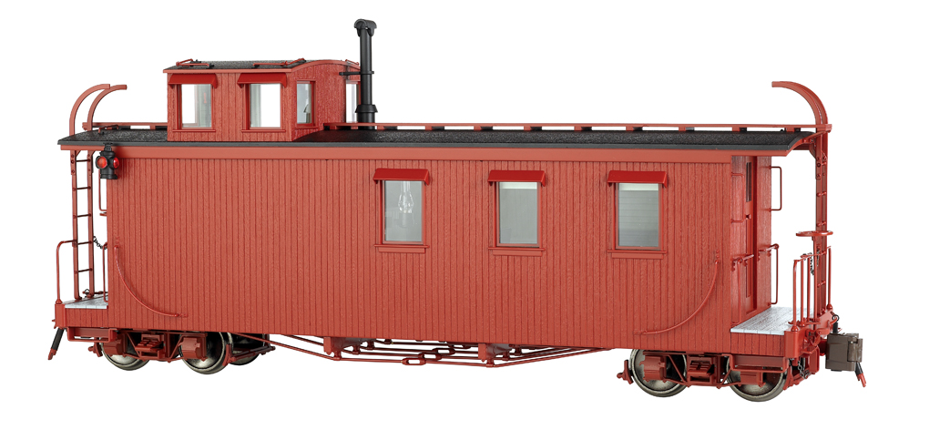 Painted, Unlettered - Oxide Red - Long Caboose (Large Scale)
