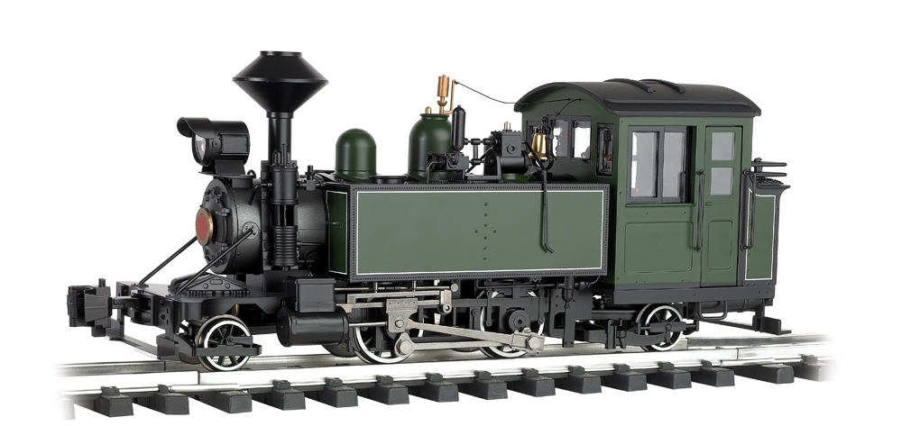 Unlettered - Green/Black w/ White Pinstripes -2-4-2 Locomotive
