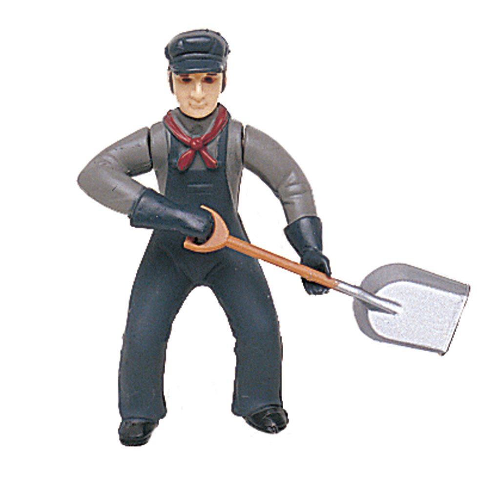 Fireman with Shovel (Large Scale)