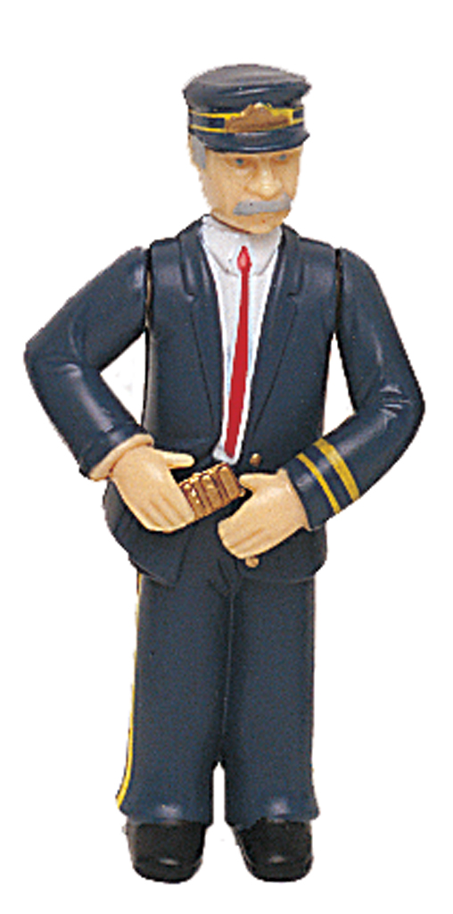 Conductor with Blue Uniform (Large Scale) - Click Image to Close