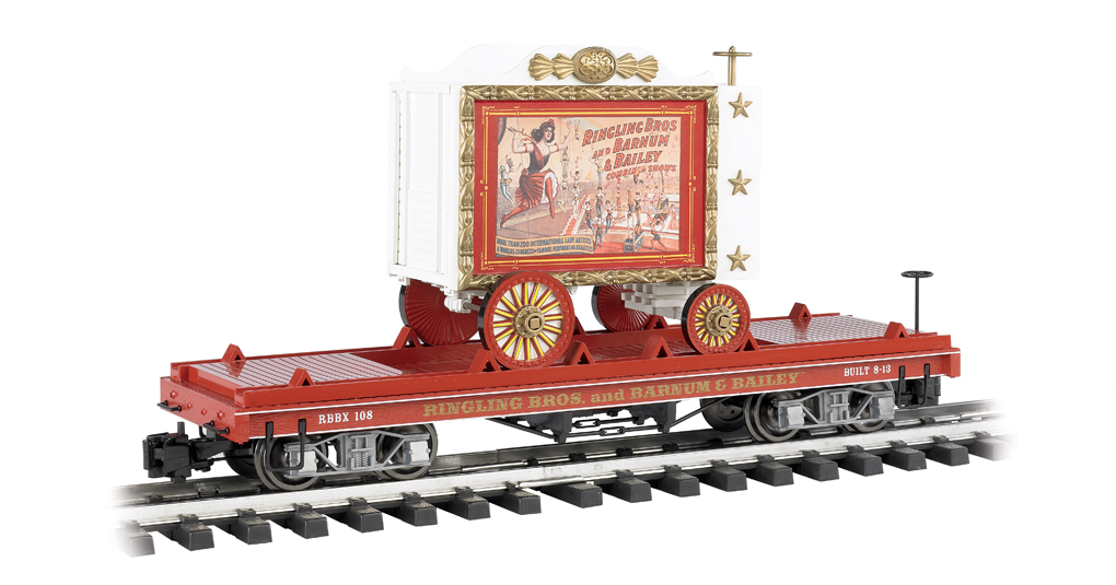 Flat Car W/Tableau Wagon - Lady Artists #108
