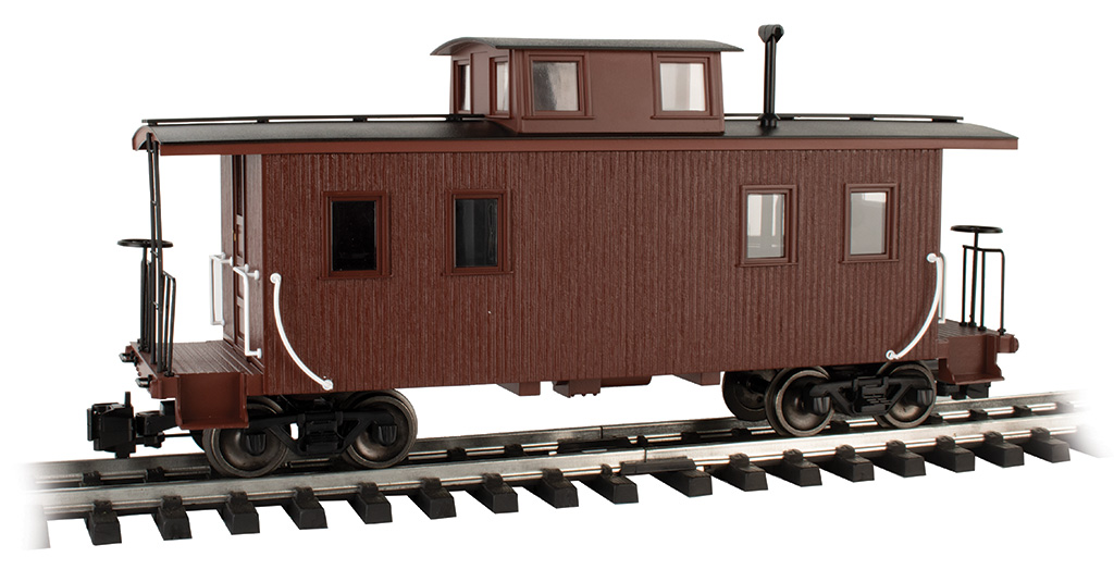Painted, Unlettered - Brown - Eight-Wheel Center-Cupola Caboose