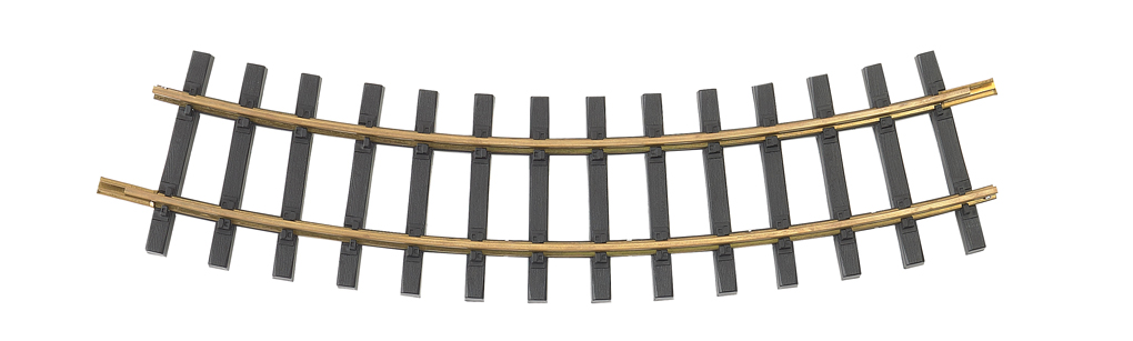 4' Diameter Curve 12/Box - Brass Track (Large Scale)