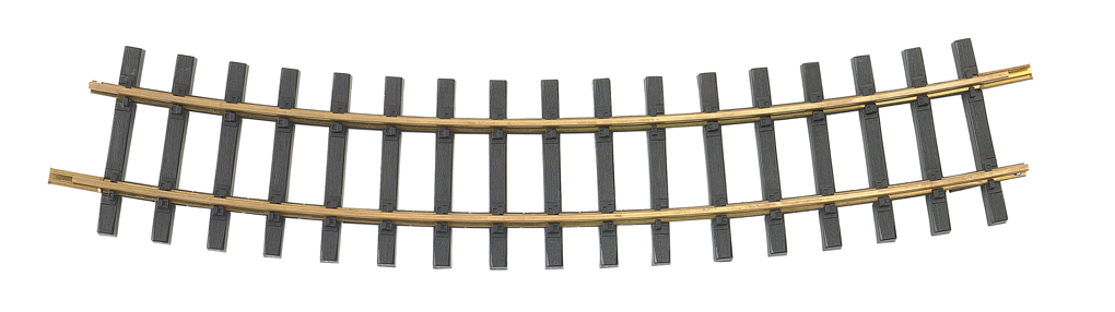 5' Diameter Curve 12/Box - Brass Track (Large Scale)