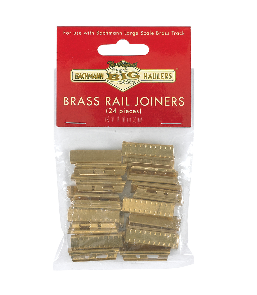 Bachmann Industries Large G Scale Brass Rail Joiners 24 per Bag