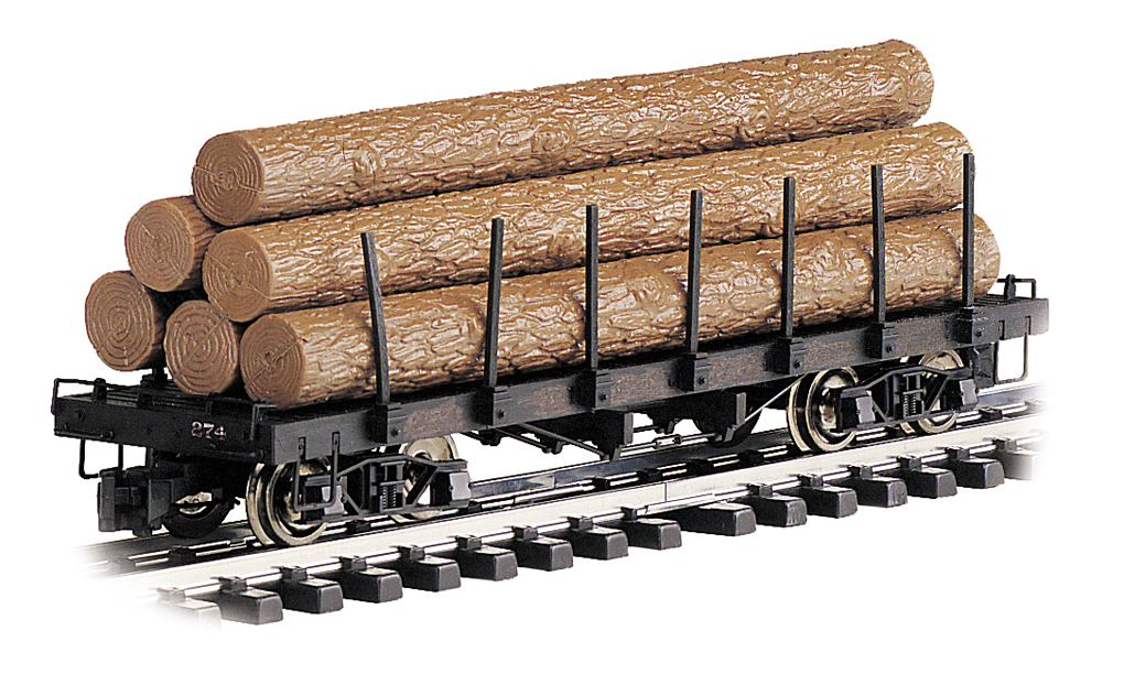 Flat Car with Logs (Large Scale)