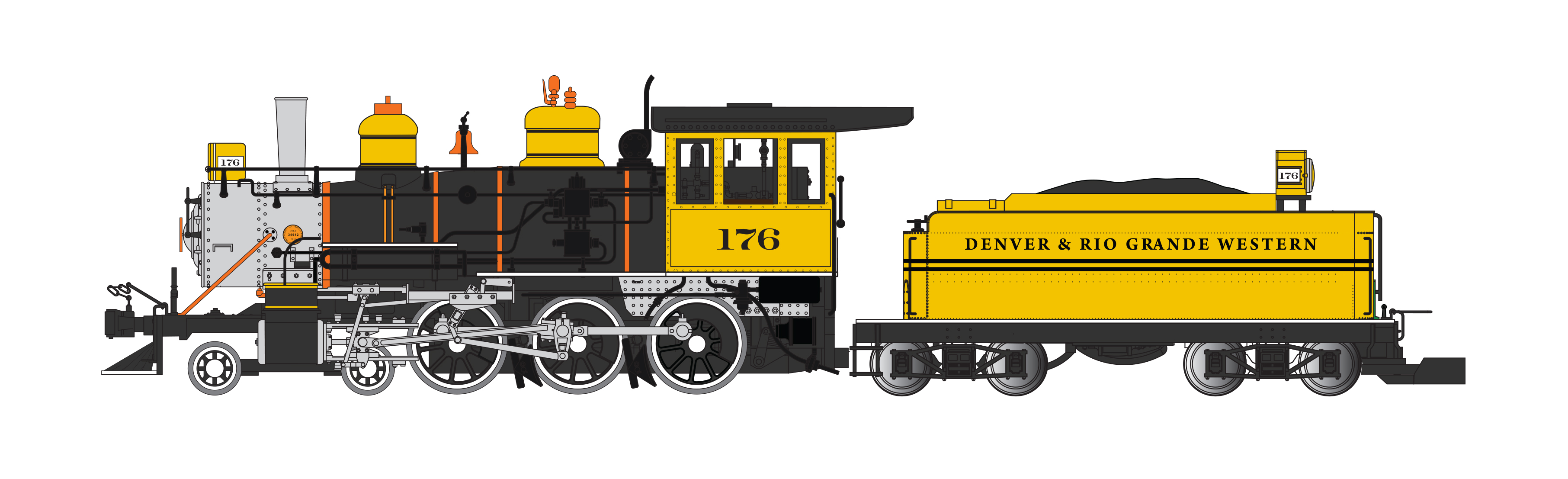 D&RGW™ - Bumblebee - 4-6-0 (DCC & SOUND READY) [91803