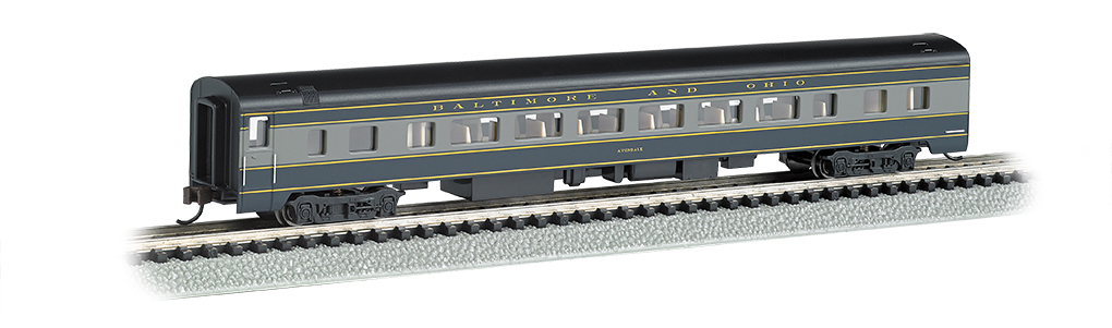 Bachmann 14253 N 85' Smooth-Side Coach w/Lighting Baltimore & Ohio