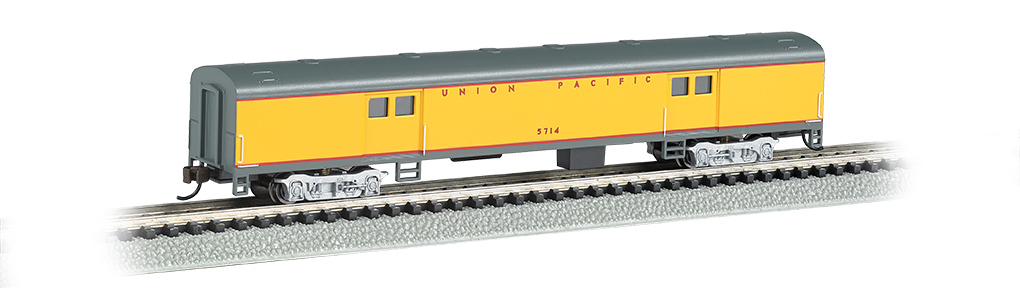 Bachmann 14454 N 72' Smooth-Side Baggage Car Union Pacific Armour