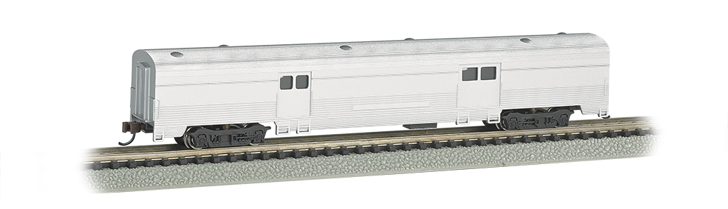 Unlettered Aluminum - 72 FT 2-Door Baggage car