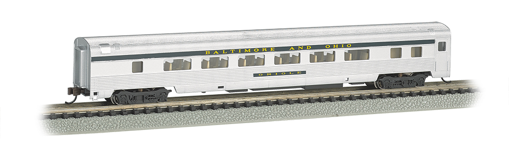 Bachmann 14753 N 85' Fluted-Side Coach w/Lights Baltimore & Ohio