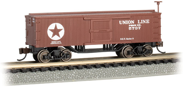 Union Line - Old-Time Box Car (N Scale)