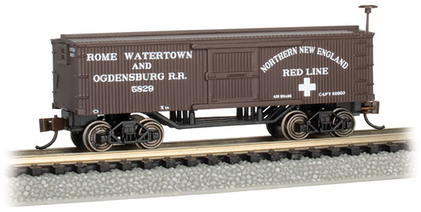 Rome, Watertown, & Ogdensburg RR - Old-Time Box Car (N Scale)