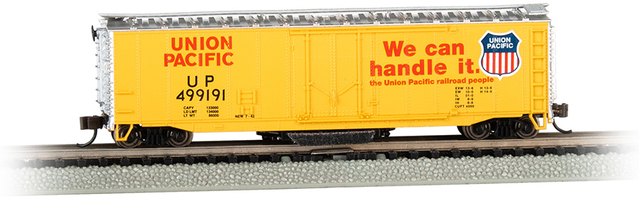 UP® #499191 - Track-Cleaning 50' Plug-Door Box Car (N Scale)