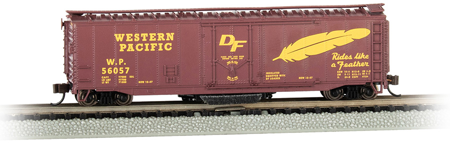 Western Pacific™ #56057 - Track-Cleaning 50' Plug-Door Box Car