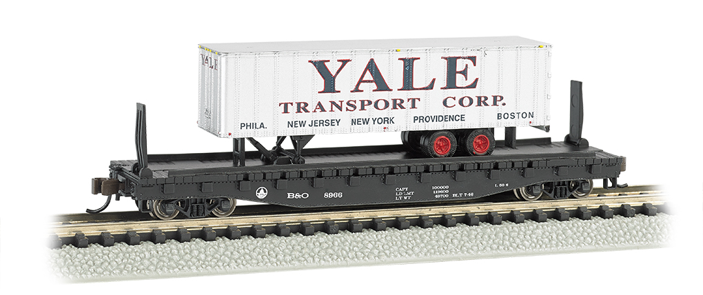 Atlantic Coast Line 52ft flat car w/ Yale 35ft Trailer