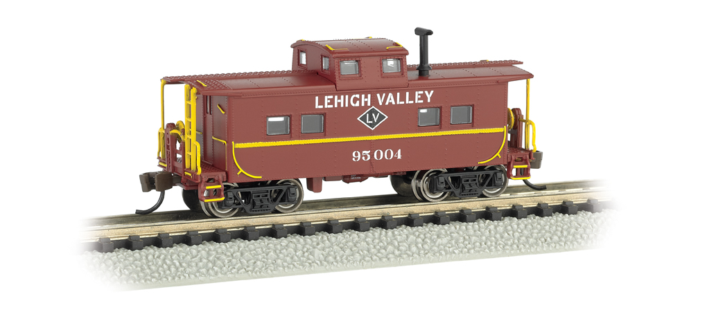 Lehigh Valley #95004 (Tuscan Red) - NE Steel Caboose