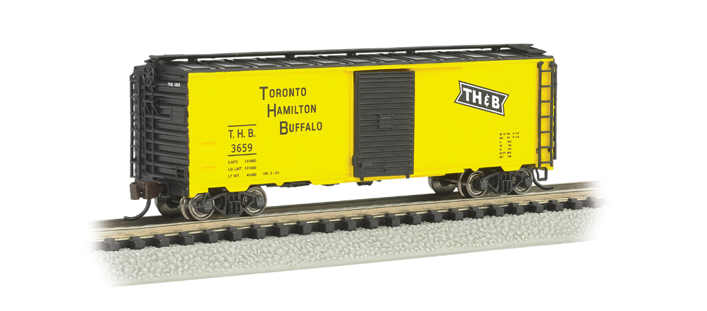 Toronto, Hamilton & Buffalo (Yel/Blk) - AAR 40' Steel Box Car